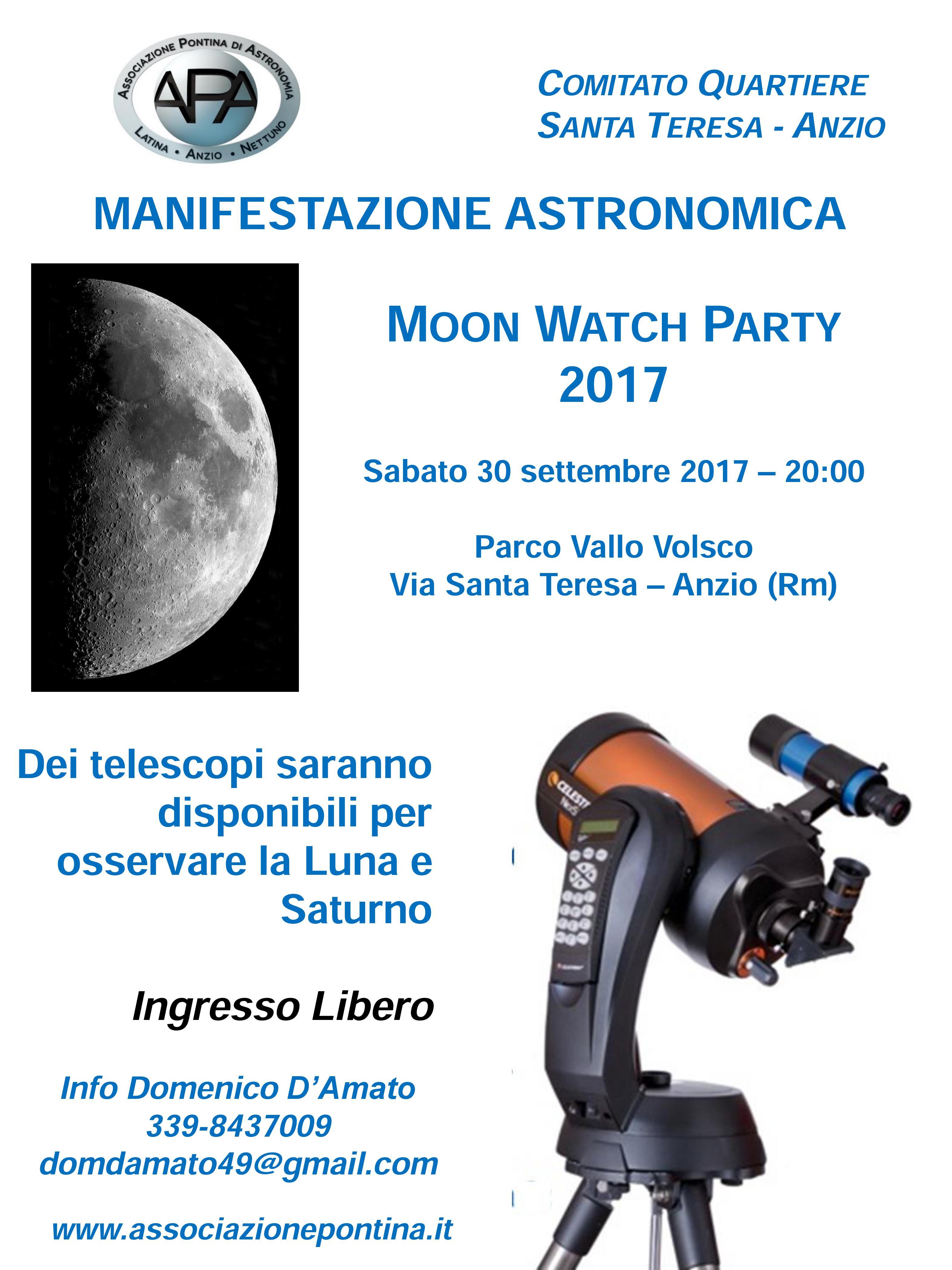Locandina Moonwatch 2017