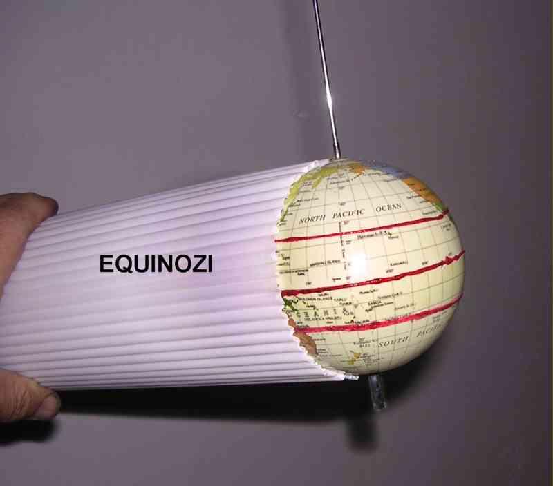 Raggi solari all'equinozio