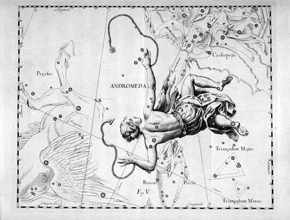 Andromeda vista da Hevelius