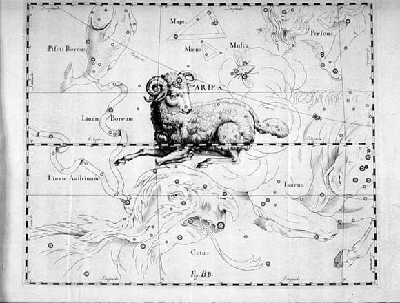 Ariete vista da Hevelius