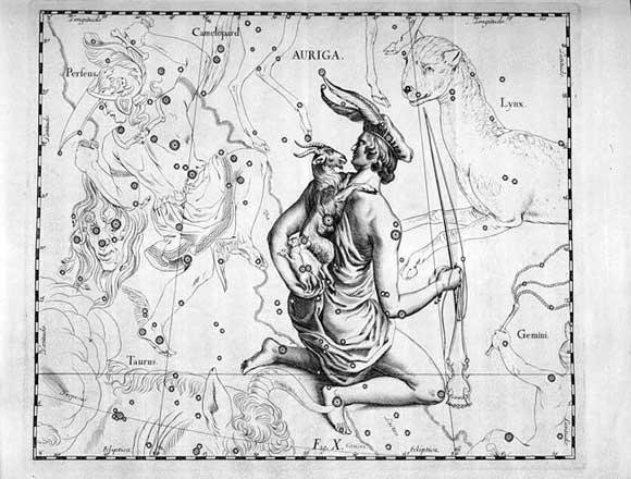 Auriga vista da Hevelius