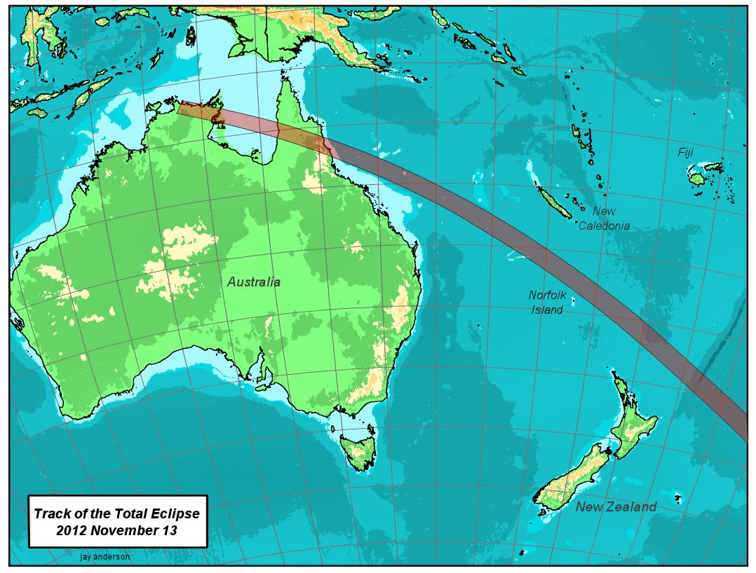 Tragitto in Australia