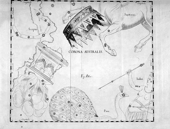 Corona Australe vista da Hevelius
