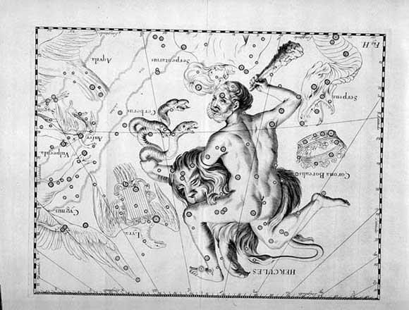 Ercole visto da Hevelius