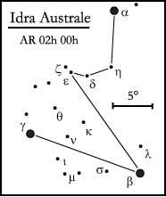 costellazione dell' Idra Australe