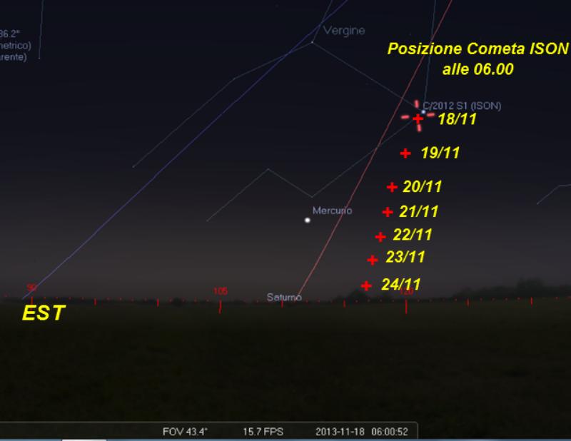 Track cometa novembre 2013