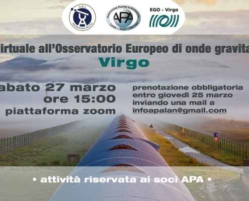Locandina visita virtuale Virgo
