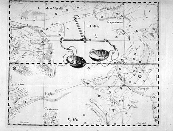 Bilancia vista da Hevelius