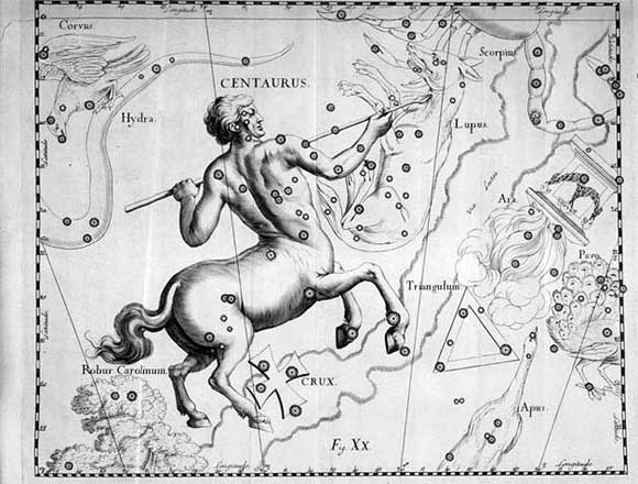 Centauro visto da Hevelius
