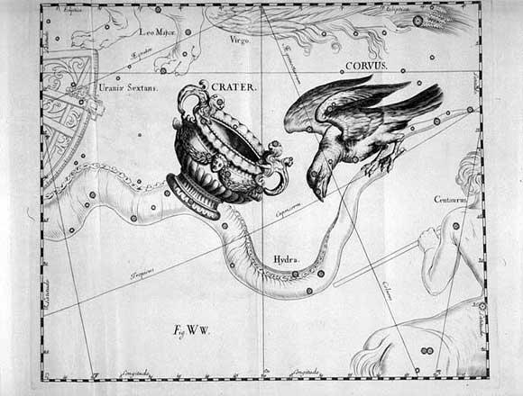 Corvo visto da Hevelius