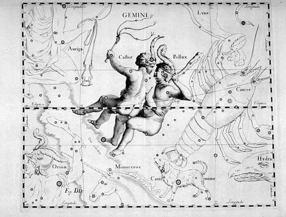 Gemelli visto da Hevelius