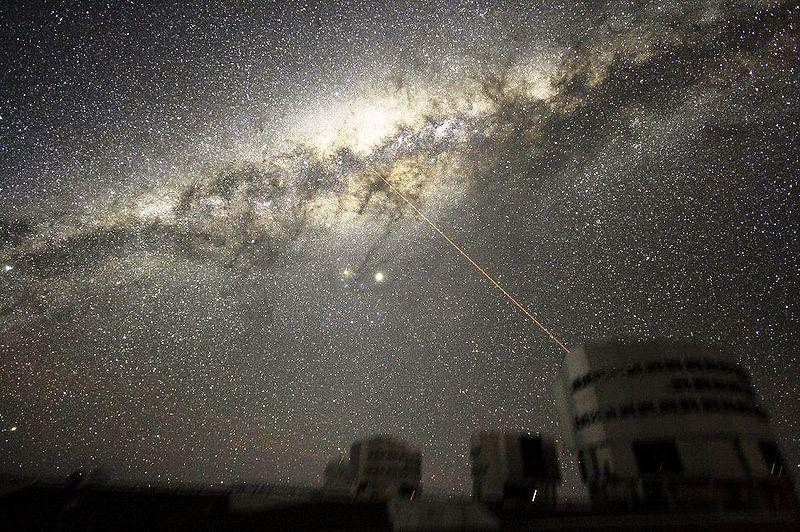 Immagine della Via Lattea vista dalla Terra
