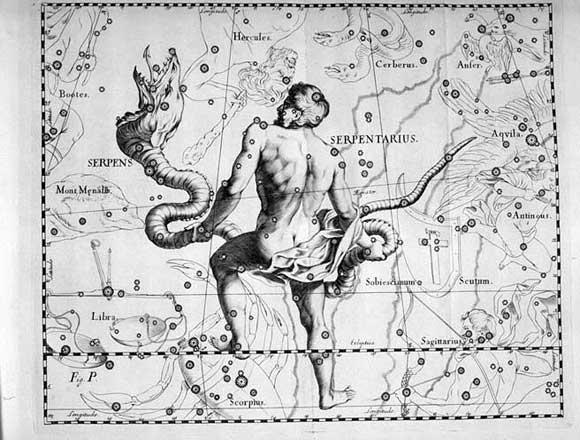 Ofiuco visto da Hevelius