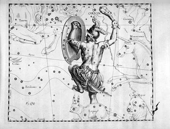 Orione visto da Hevelius