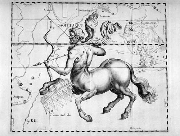 Sagittario visto da Hevelius